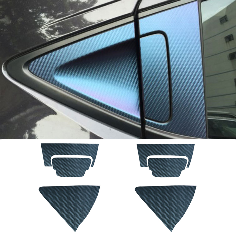 Car stickers car accessories carbon fiber door handle cup bowl protective cover stickers trim fit for honda xrv vezel