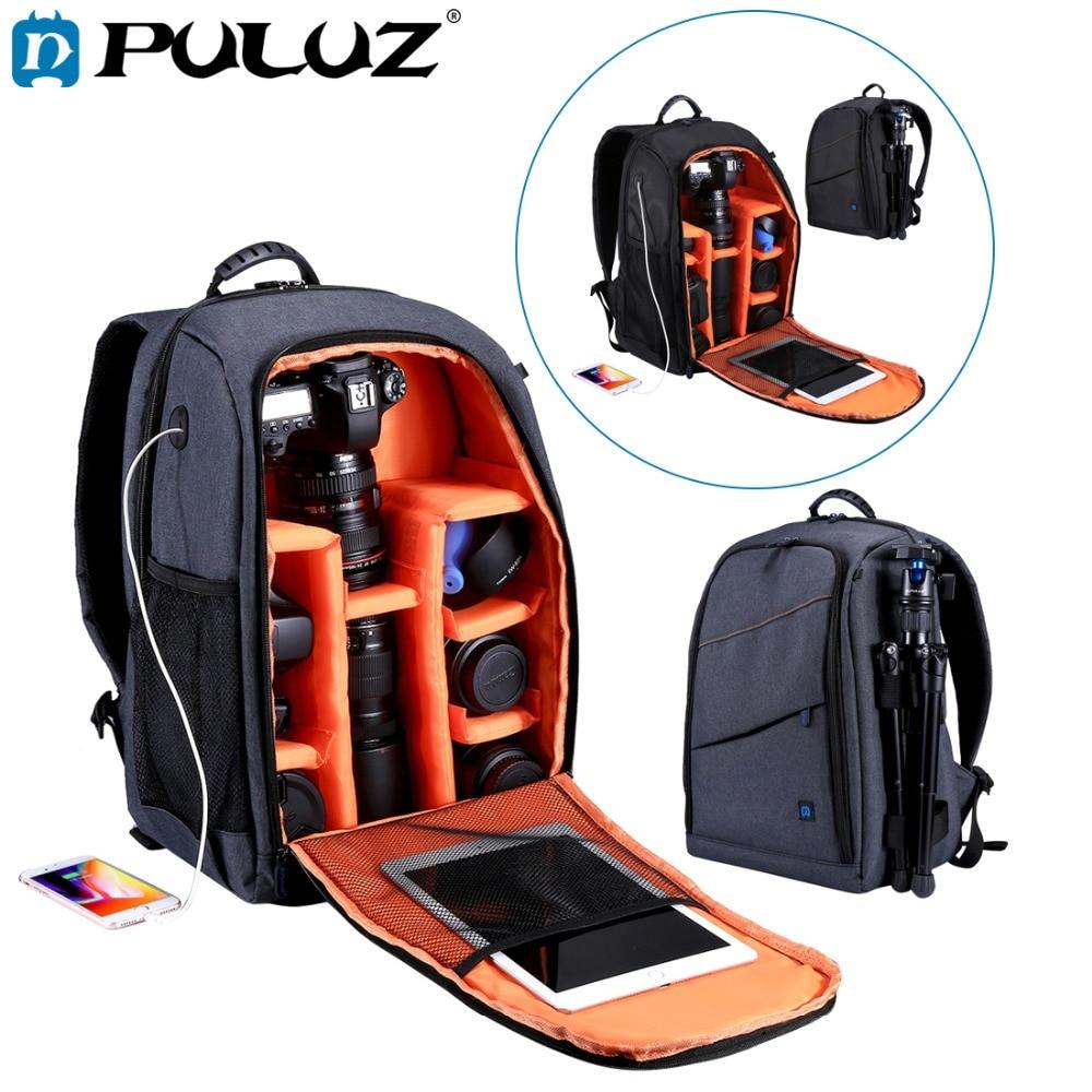 PULUZ Outdoor Portable Waterproof Scratch-proof Dual Shoulders Backpack Camera Bag Digital DSLR Photo Video Bag, laptop backpack