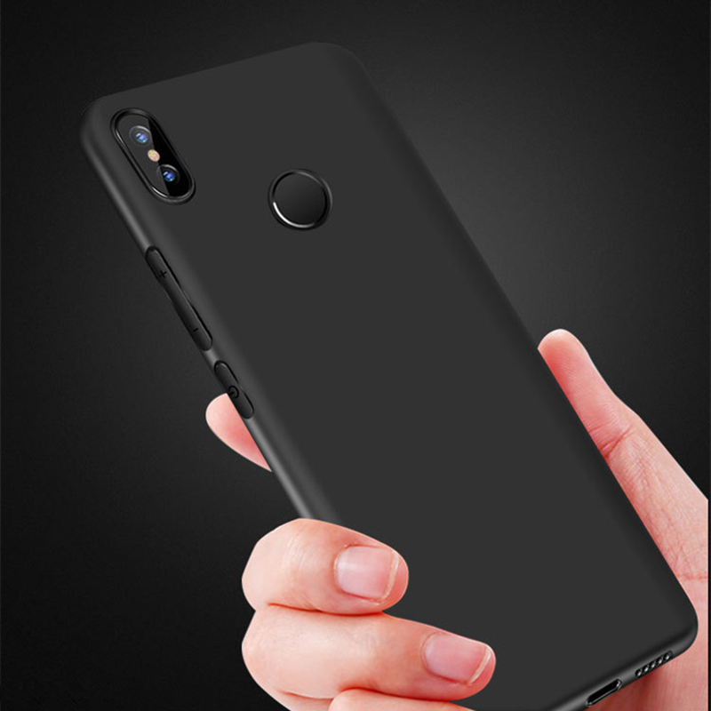 New Matte Candy Silicone Case For Xiaomi 8SE A2 A1 MIX2 Soft TPU Cover For Redmi 6 6A 5A 5 plus 4A NOTE 5A PRIME soft silicone in Half wrapped Cases from Cellphones Telecommunications