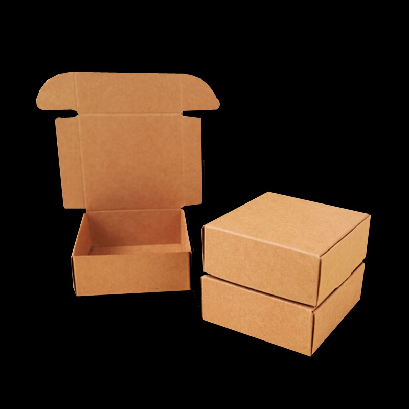 10pcs/lot Small Kraft Paper Box,brown Cardboard Handmade Soap Box, Craft Paper Gift Box,brown Packaging Jewelry Box