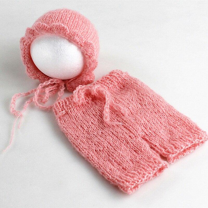 Mjuka Mohair Nyfödda Fotografier Props Kostymer Cap / Hat + Ruffles - Babykläder - Foto 5