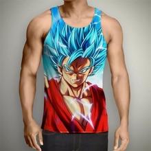 Newest Anime Dragon Ball Z Super Saiyan Tank Tops harajuku Hipster 3d vest Handsome Goku printed Unisex Summer style casual vest