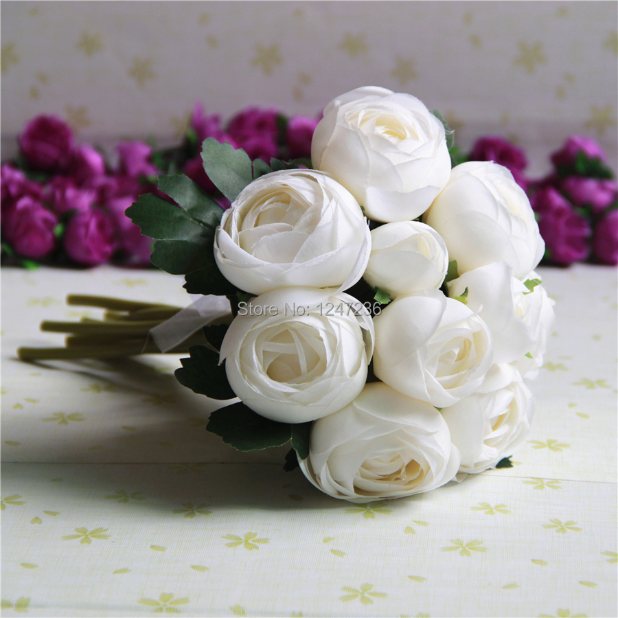 Wedding bridal posy roses bouquets flowers artificial silk camellia wedding bridal posy roses bouquets flowers artificial silk camellia roses flowers bouquets home decor white on aliexpress alibaba group mightylinksfo