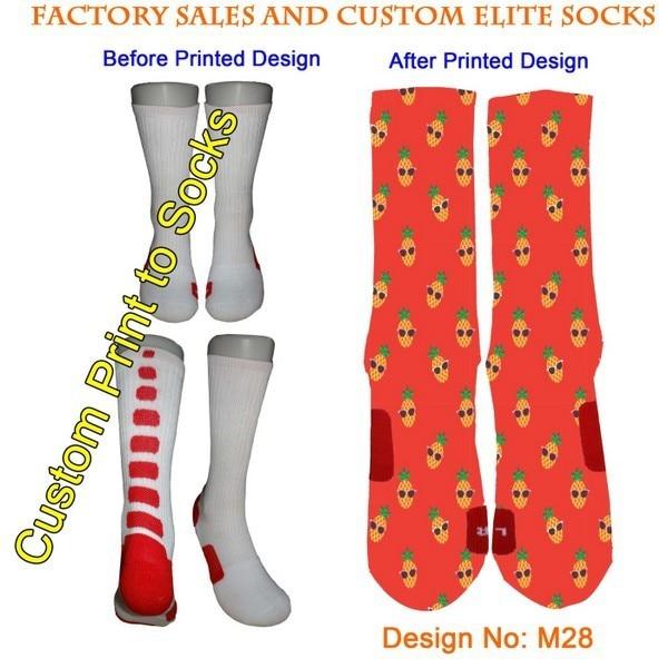 301b4b6faa20a Custom Fashion Sublimation Printed Elite Socks Custom Design Packing Knee  Thigh-High Socks Basketball Socks Skateboard Socks