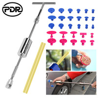 PDR Dent Puller 2 in 1 Slide Reverse Hammer Tool Kit with 28pcs Glue Tabs for Dent Removal Auto Body Repair Tools Kit