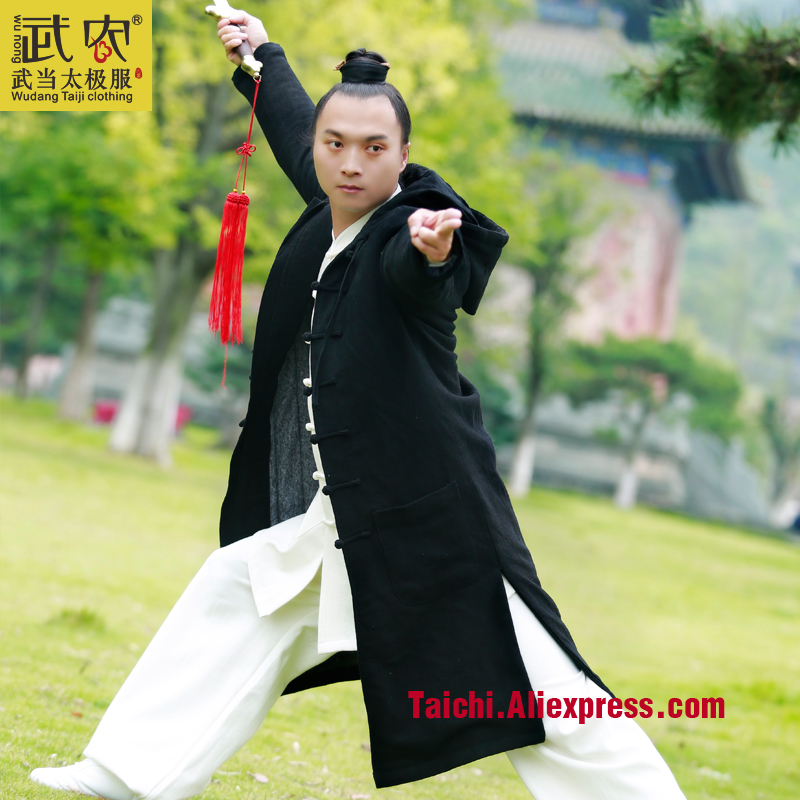 Wu Nong Wudang Tai chi clothing robes uniforms surplices men and women Hanfu Taijiquan clothing coat winter thick Robe