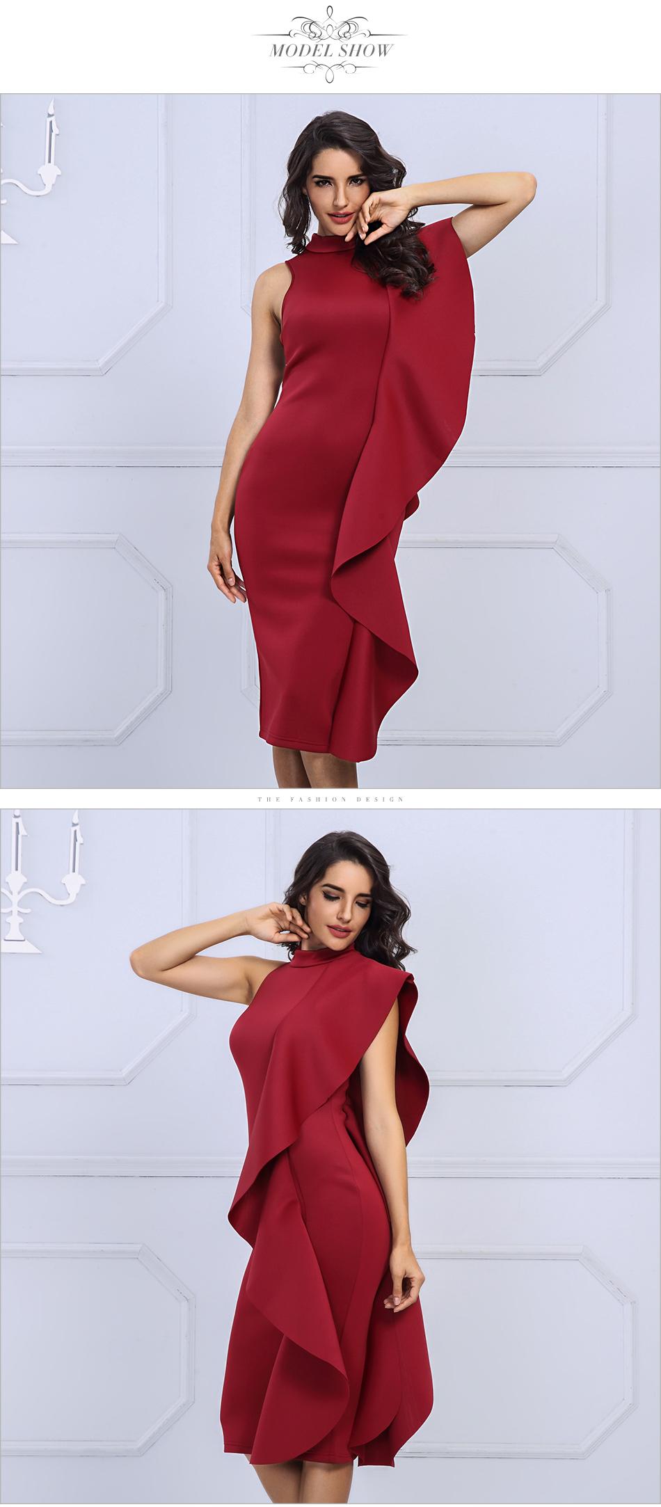 Adyce 2018 New Style Spring Dress Women Sexy White Sleeveless Patchwork Ruffles Bodycon Vestidos Celebrity Party Dress Clubwear 5