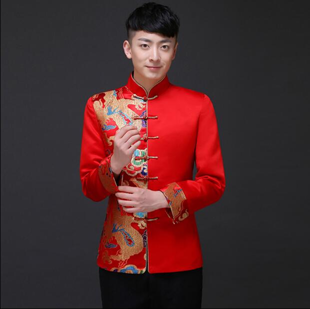 Traditionnel hommes chinois robe marié robe hommes cheongsam Tang Vintage vêtements veste