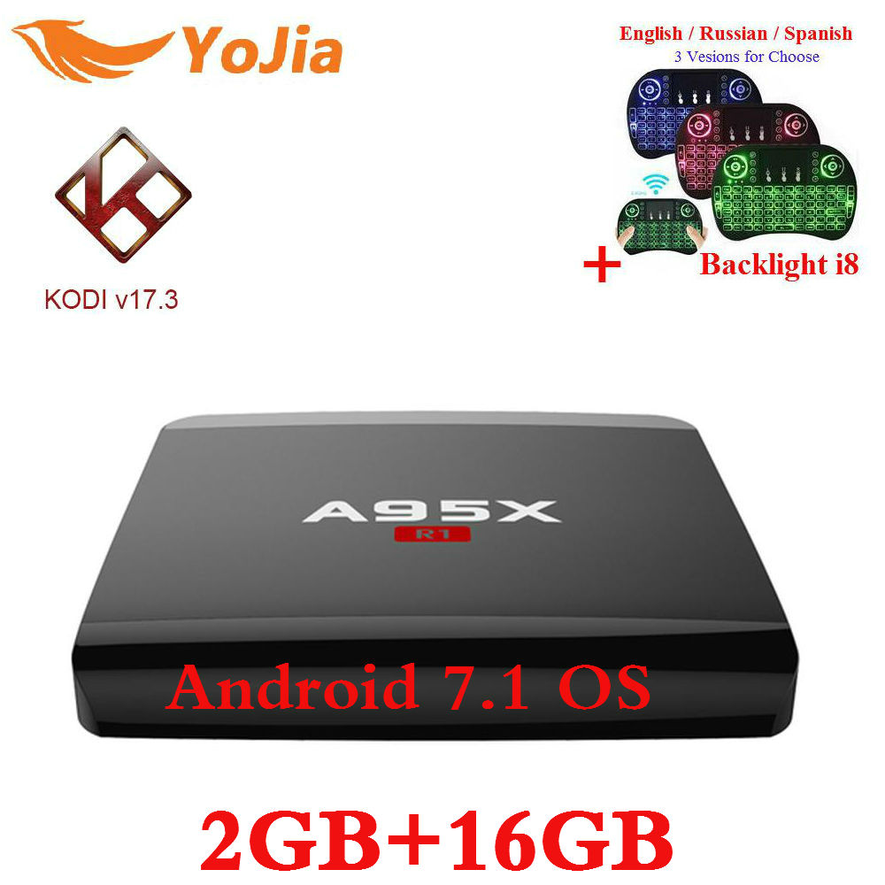 Rockchip RK3229 A95X R1 Android 6 0 Smart TV Box Quadcore 1GB 8GB HDMI2 0 4Kx2K