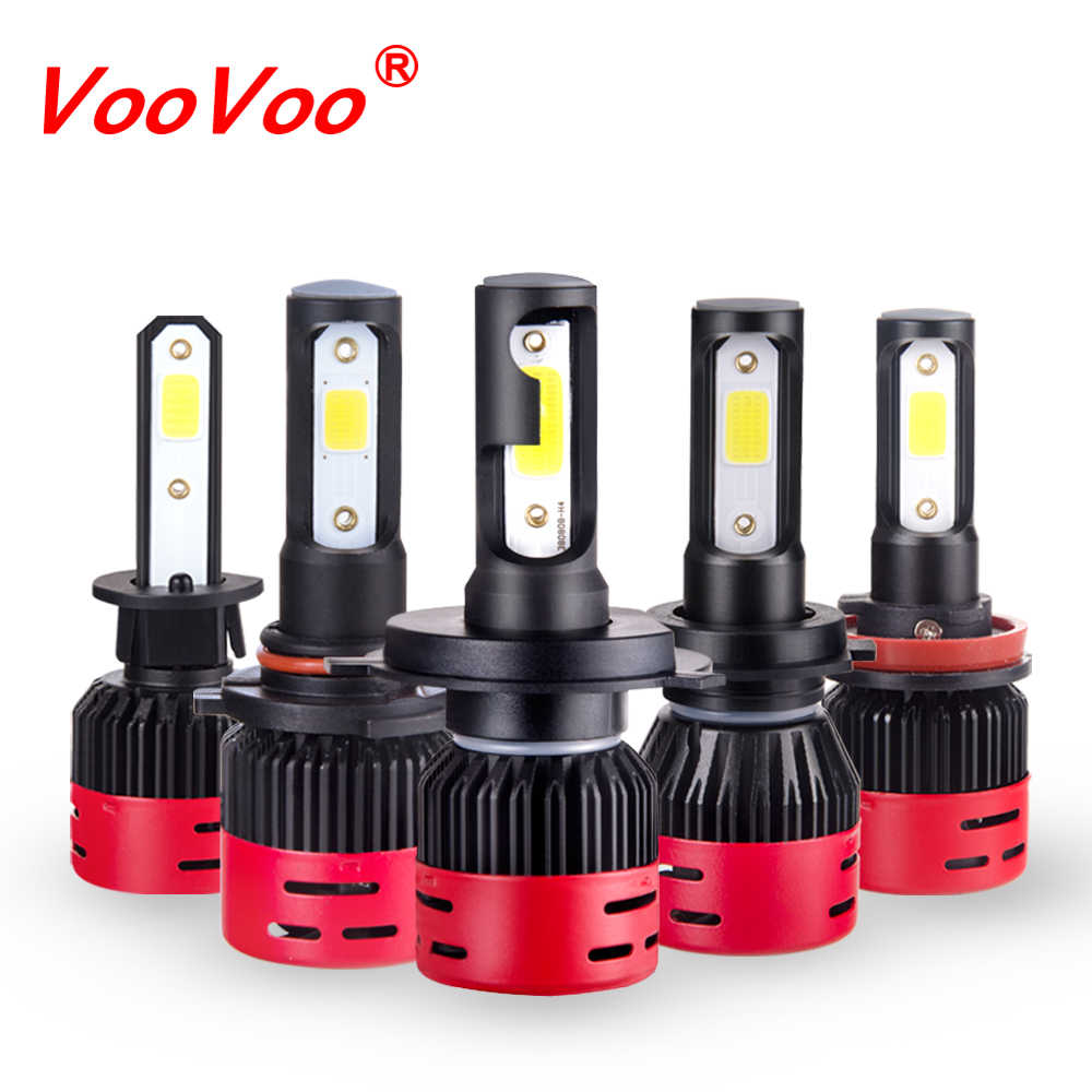 VooVoo 2Pcs H4 LED Car Headlights 72W 8000LM COB Auto Headlamp Bulbs LED H7 H1 H3 H4 H11 H8 H9 9012 HIR2 H 7 Far and Near Lights