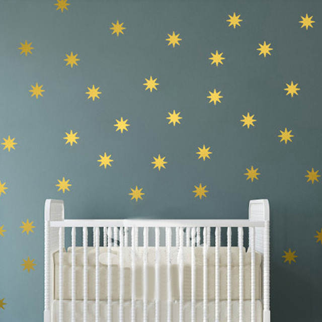 Star Wall Decal Sparkle Star Decals Seeing Star Vinyl Removable Wall Art  Starbursts Nursery Decor Kids