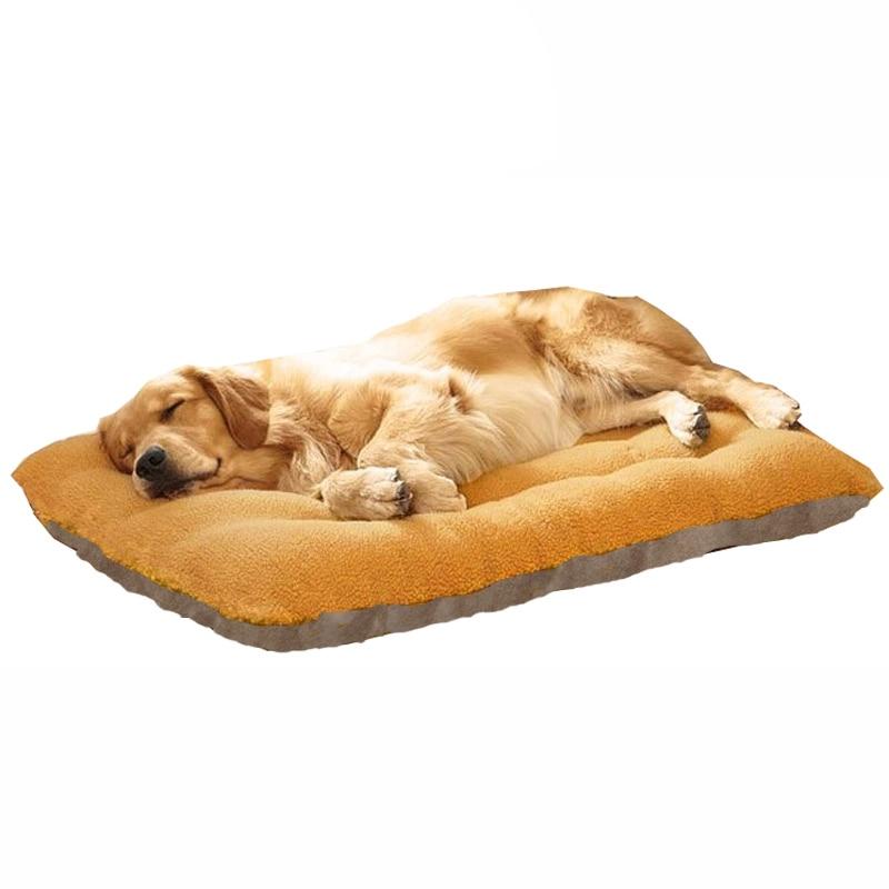 Grand lit pour chien tapis classique chaud velours hiver chien chenil tapis animal de compagnie sommeil coussin tapis Golden Retriever chien Cage canapé Mat70cm x 100cm
