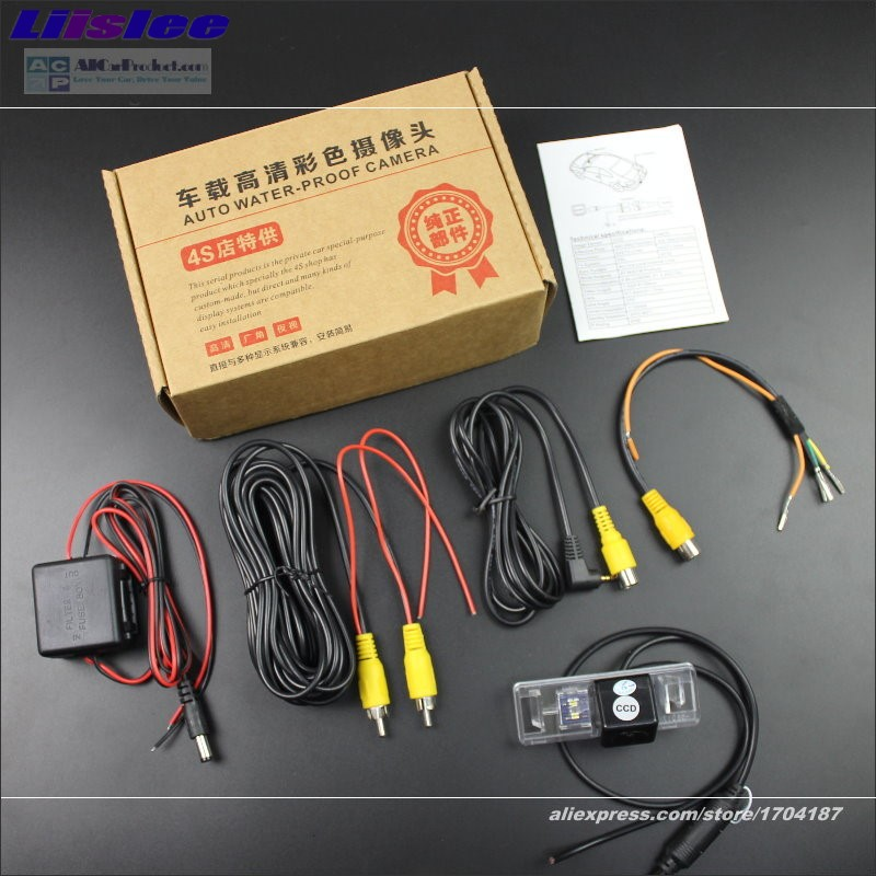 Liislee Rear Reverse Camera For Peugeot Partner Grand Raid Ranch HD 860 576 Pixels Intelligent Parking Tracks in Vehicle Camera from Automobiles Motorcycles