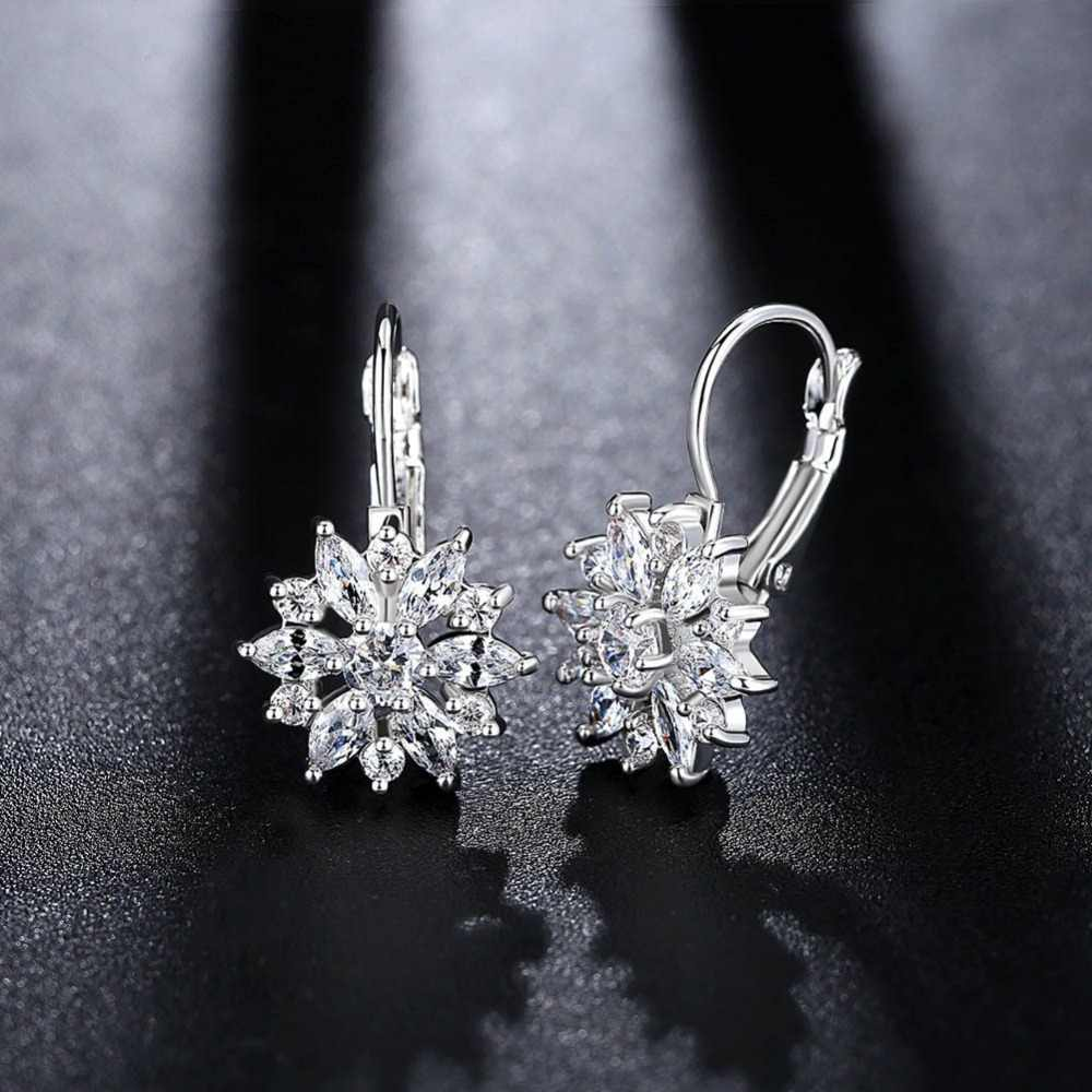 2019 NEW Wild rose gold hypoallergenic earrings Original Crystal from  Swarovski Bella Mini Piercing Woman Earrings