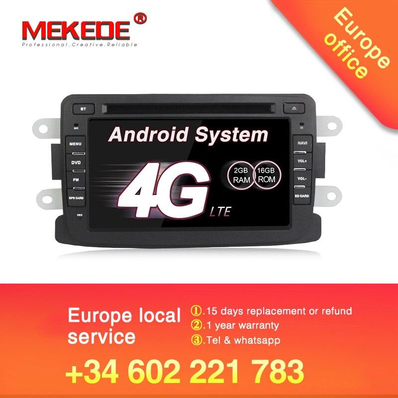 EU steuer freies! Beste Android7.1 auto dvd radio player für Dacia Duster Logan Sandero stereo mit GPS Navigation 4G WIFI BT RDS