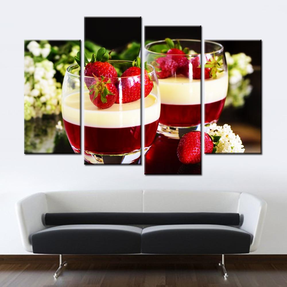Unframed Obst Erdbeere Leinwand Malerei Moderne Wandgemälde für ...