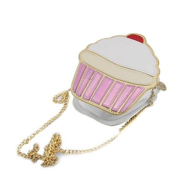 Funny Ice Cream Cake Bag Small Crossbody Bags For Women Cute Purse Handbags Chain Messenger Bag Party Bag