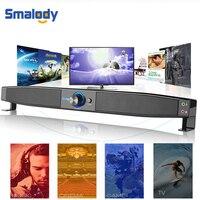 Smalody Multimedia Speaker Soundbar HIFI Subwoofer Surround Stereo PC Music Speakers Home Theater System Laptop Computer Desktop