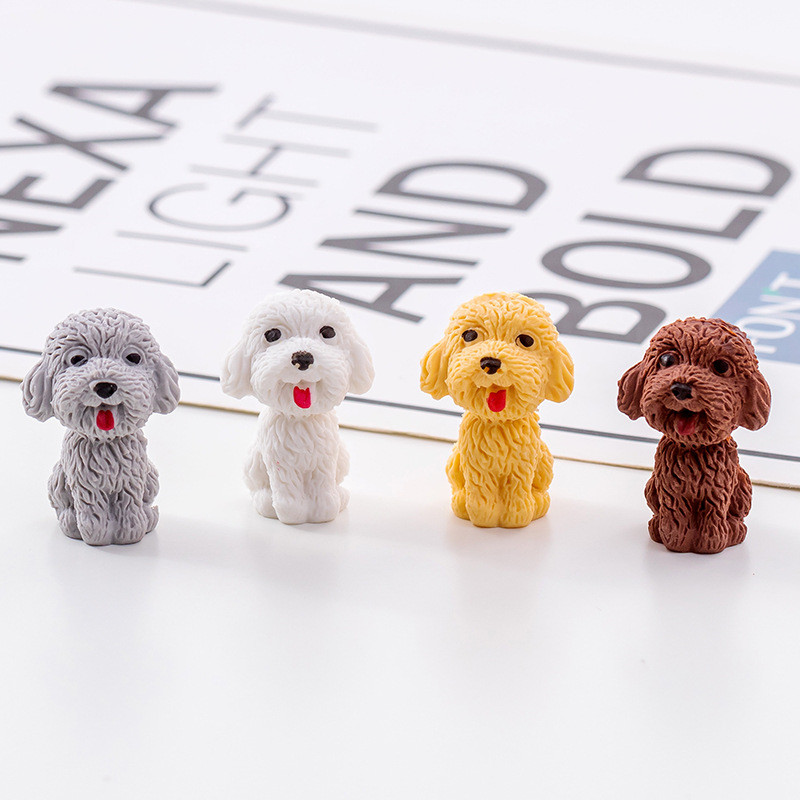 1pcs Cute Cartoon Teddy Dog Rubber Eraser For Kids Art-drawing School Supplies Accessories Office Correction Stationery