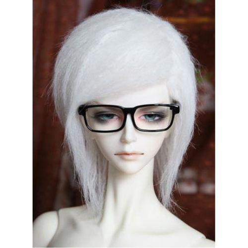 "[wamami]Fashion White Middle-long Wool Wig Hair 1/3 MSD DOD DZ BJD Dollfie 8-9"""