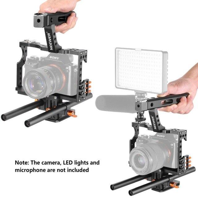 Neewer Film Film faisant plate-forme caméra vidéo Cage Kit avec poignée poignée pour Sony A7 A7S A7SII A7R A7RII A7II A6000 A6300 A6500