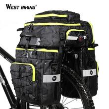 WEST BIKING 75L Bicycle Bags 3 In1 Cycling Pannier Luggage Mountain Bike Rear Seat Trunk Waterproof Double Side Bag
