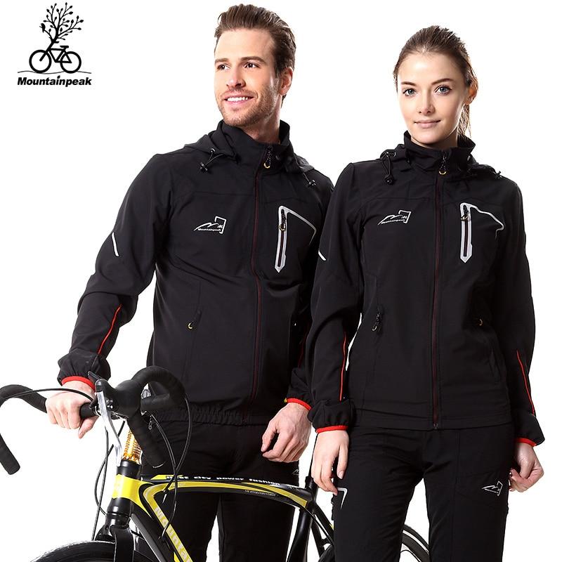 Mountainpeak 2017 Spring&Autumn rainproof windproof breath cycling sets jacket long sleeve bike riding coat pants set men women
