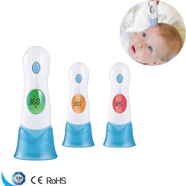 8 em 1 Praticidade Orelha Termômetro Do Bebê Termometro Digital de Tela LCD de 3 Display Colorido Termometro Bebê