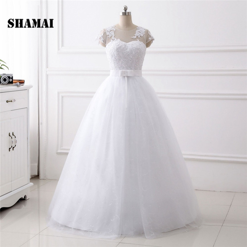 Cheap Plus Size Ball Gown Wedding Dresses: SHAMAI Plus Size Wedding Dresses 2018 Ball Gown Elegant