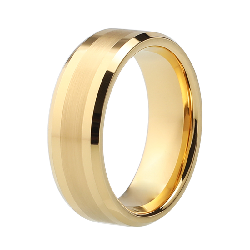 Very Popular Shiny Gold Color Wedding Ring Tungsten Nice Wedding Band With 6mm And 8mm Available ...
