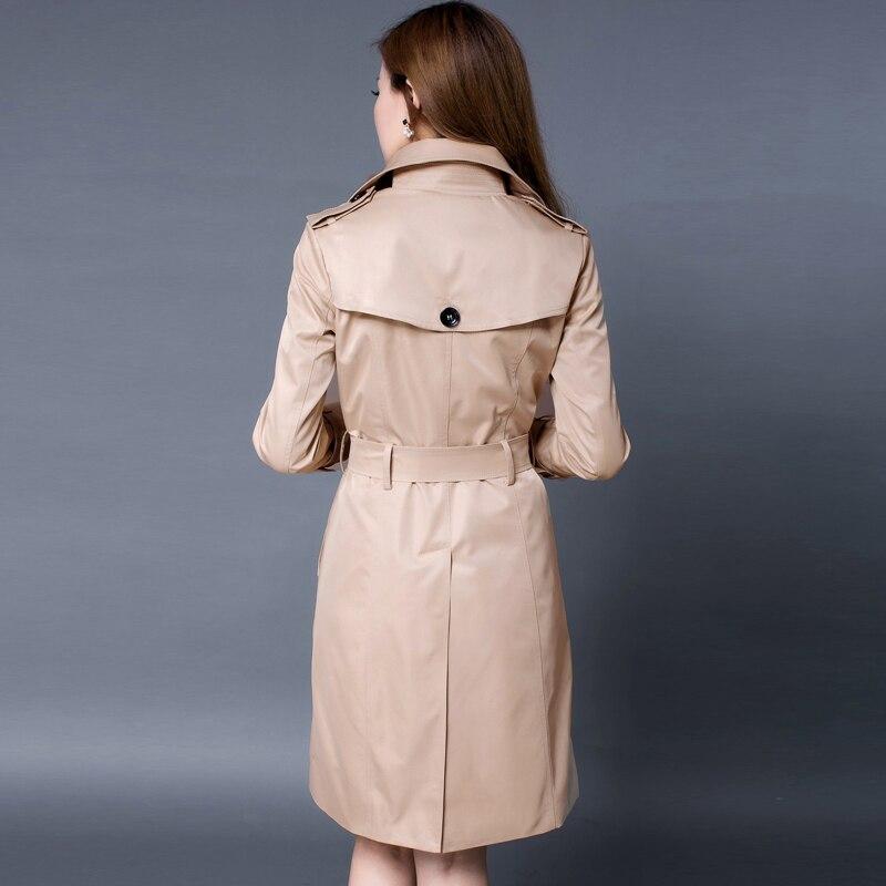 CHAOJUE Marke Europa Itay 2018 herbst weibliche klassische zweireiher lange trenchcoat England luxus frauen pea coat kostenloser versand-in Trench aus Damenbekleidung bei  Gruppe 2