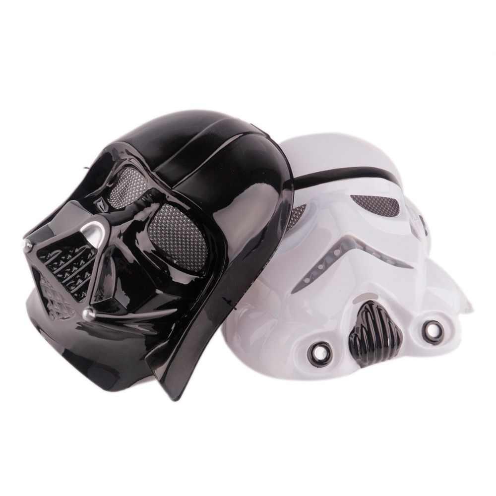 1 sztuk/partia moda na wakacje halloween gwiezdne wojny wojny maska led party cosplay czarny zaskórnika całą twarz maska horror maski na maskaradę