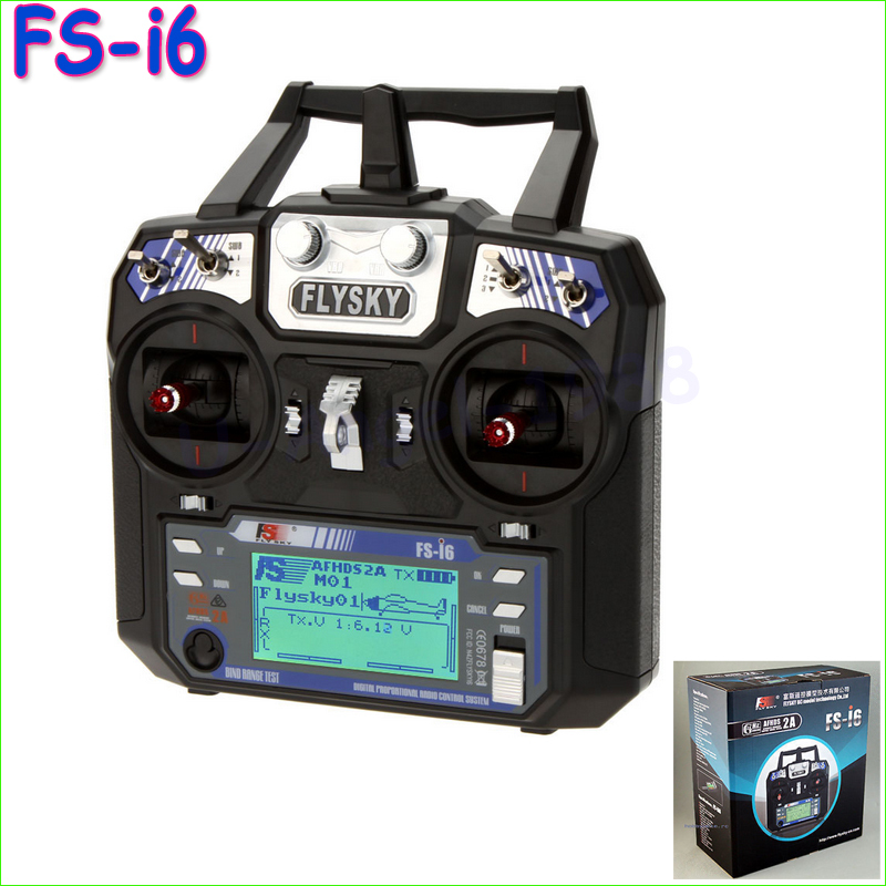 ФОТО 1pcs Newest Flysky FS-i6 FS I6 2.4G 6ch RC Transmitter Controller w/ FS-iA6 Receiver For RC Helicopter Plane Quadcopter Glider