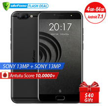 Ursprüngliches Ulefone Gemini Pro 4G Smartphone 5,5 zoll FHD MTK6797 Deca Core Android 7.1 4 GB + 64 GB Fingerabdruck ID Dual-kamera 13MP