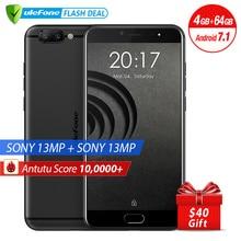 Ulefone Gemini Pro 4G Smartphone 5.5 pouce FHD MTK6797 Deca Core Android 7.1 4 GB + 64 GB D'empreintes Digitales ID Double Arrière Caméras 13MP Cam