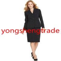 Черный Для женщин Бизнес костюм Брендовая женская одежда индивидуальный заказ Для женщин смокинг одежда 341