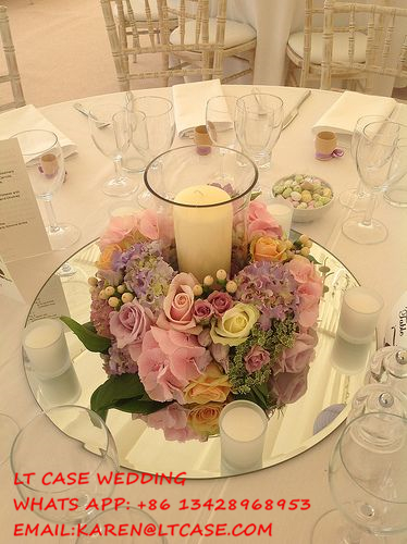 15pcs 30cm diameter round/square Acrylic Mirrors for Wedding Table Centerpieces or Wall Mirror Decor