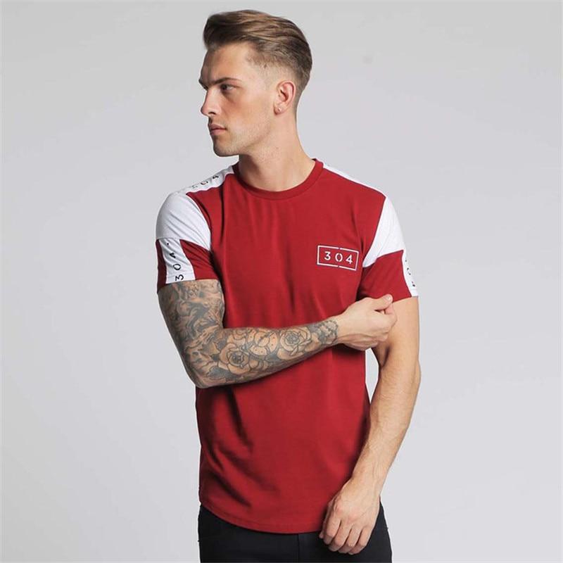2018 men's new fitness casual fashion summer short sleeve T-shirt