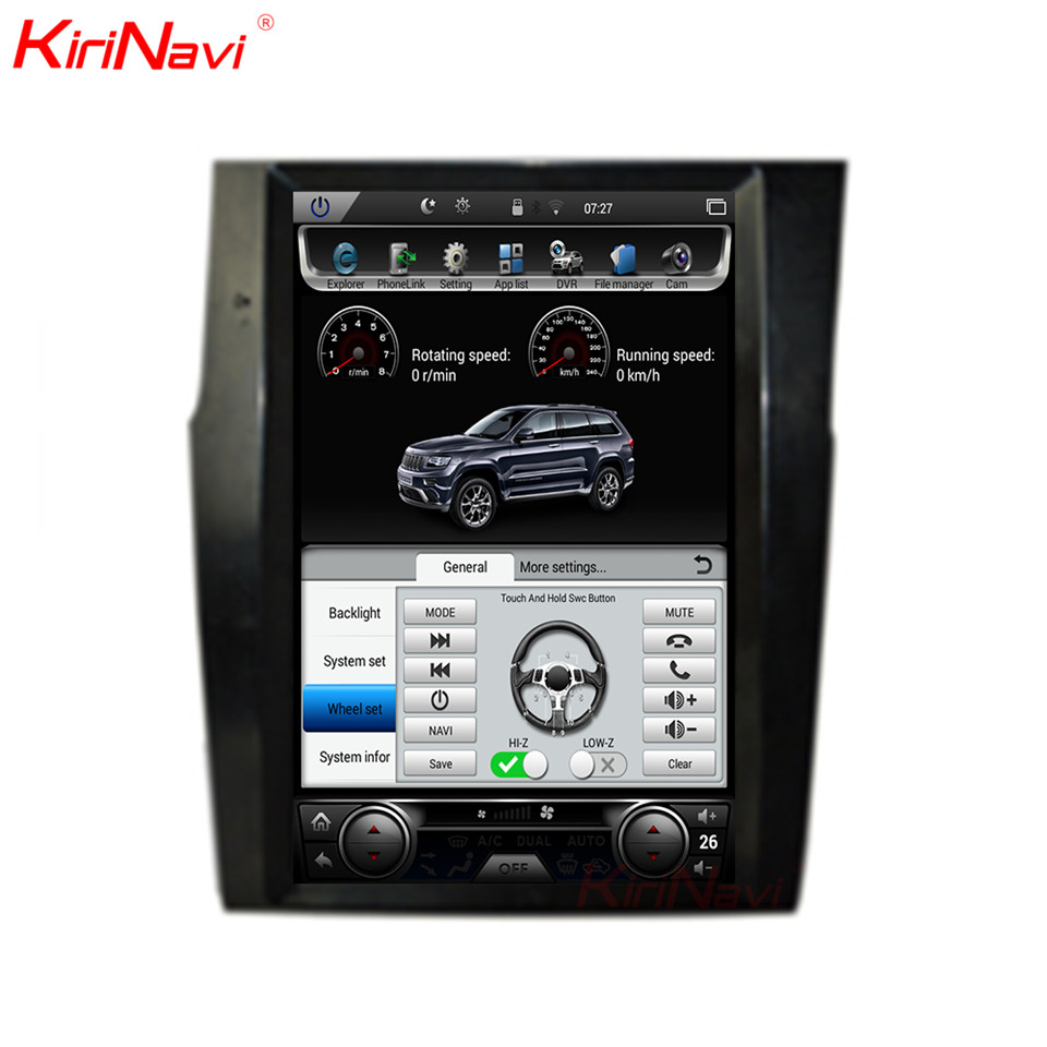 KiriNavi Tesla Estilo Vertical Da Tela Android 6.0 Rádio Do Carro Para Citroen 12.1 Polegada C4 2 Multimídia Carro Din Gps Do Bluetooth jogador