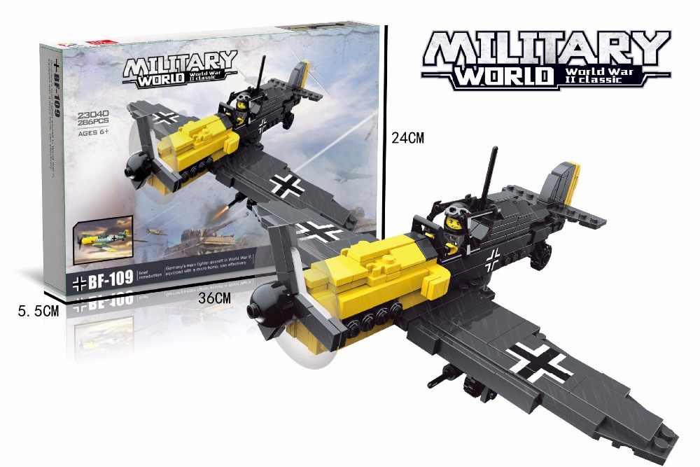 Klasyczne II wojna światowa armia niemiecka BF109 fighter building block ww2 sił powietrznych figurki cegły model zabawki kolekcja dla dzieci prezenty