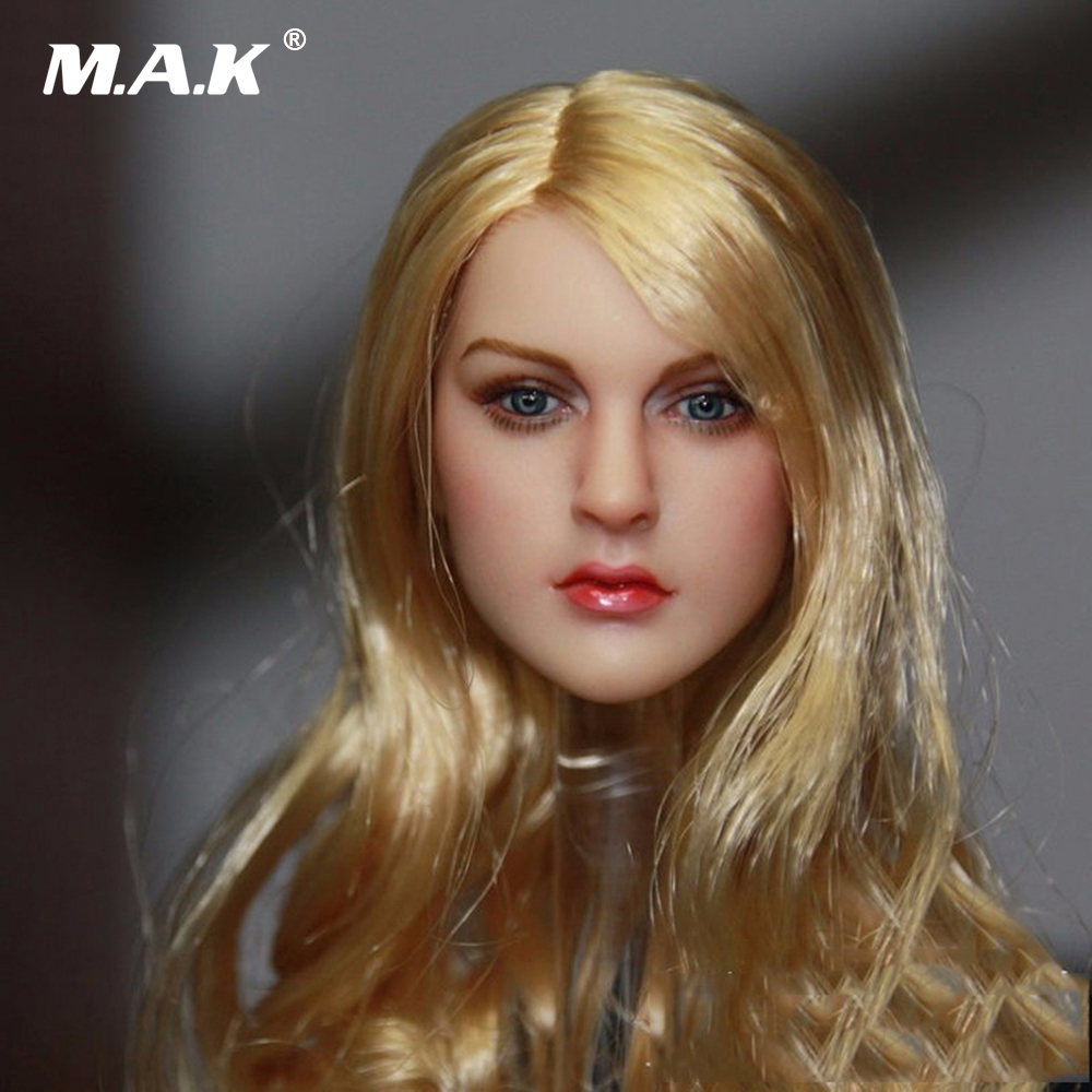 1/6 Scale Blonde Hair European & American Female KT007 Head Sculpts Model Toys For 12 Female Action Figures Accessory 1 6 purple female sexy leather skirt dress suit clothing model toys for 12 female action figures body accessory