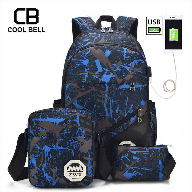3pcs Set School Bags For Girls Teen Girl School Backpack For Boys Waterproof Travel Sport Backpack Camouflage Bookbag SchoolBag
