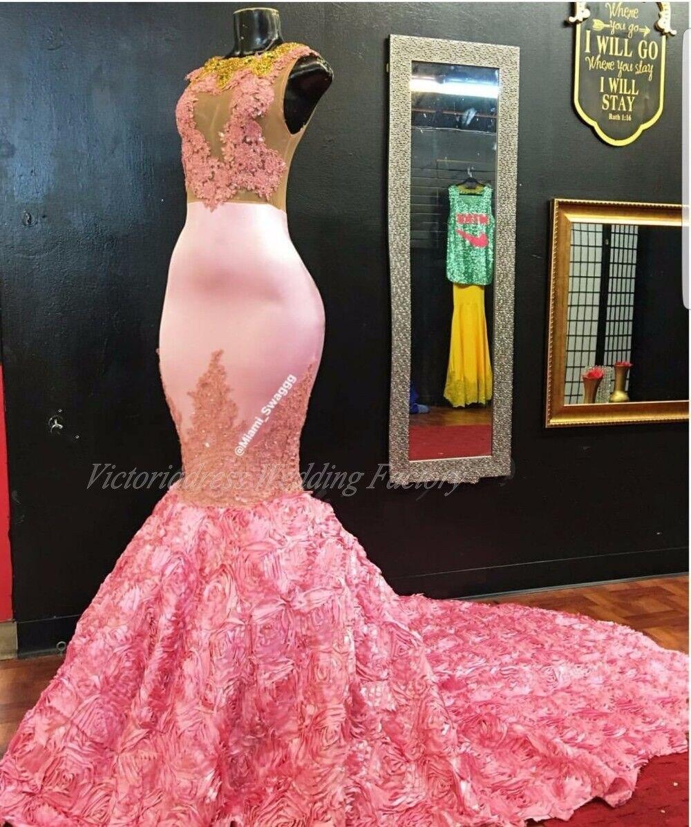 Compra túnica de color rosa de oro online al por mayor de ...