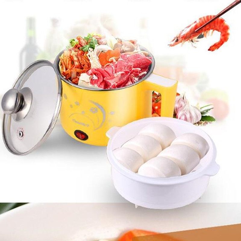 220V Household Mini Multi Cooker Multifunctional Electric Hot Pot Stainless Steel Inner Electric Cooker With Steam Lattice cukyi household electric multi function cooker 220v stainless steel colorful stew cook steam machine 5 in 1