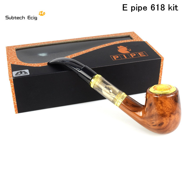 Elektronische Sigaret E Pijp 618 Kit Vaporizer kit met hout ingebouwde batterij vs kamry K1000 Guardian vape kit