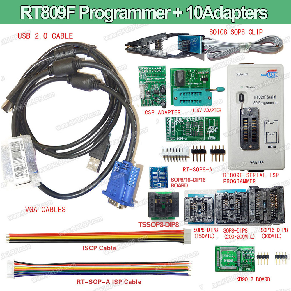 100 Original Newest RT809F LCD ISP programmer 10