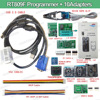 RT809F Programmer 7 Adapters SOP8 IC Clip Motherboard LCD Reader RT809F Universal EPROM FLASH VGA ISP