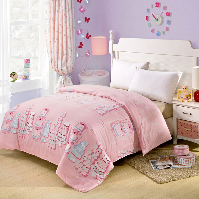 Cake Comforters And Quilts Pink Bed Sheets Girls Bed Linen Cotton Comforter  Sets Luxury Bed Sets