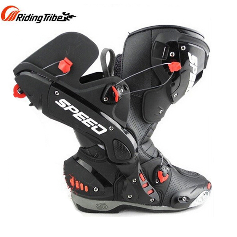 PRO biker Upgrade Men s Motorcycle protective Boots SPEED Microfiber leather Racing Boots Motorbotas Riding Motorcycle