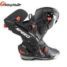 PRO biker bottes de protection pour moto, pour course, en cuir microfibre, pour hommes